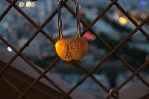 Locket on the top of the Eiffel Tower,  June 2014