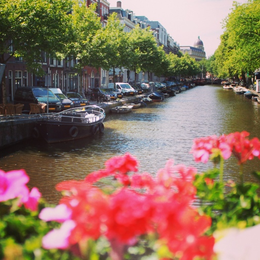 Canal in Amsterdam June 2014